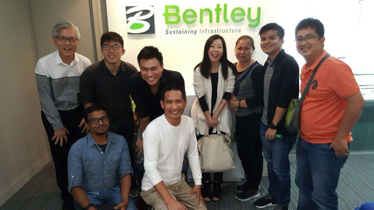 Lum Chang attending AECOsim Training @ Bentley Singapore office on 2 Dec 2016